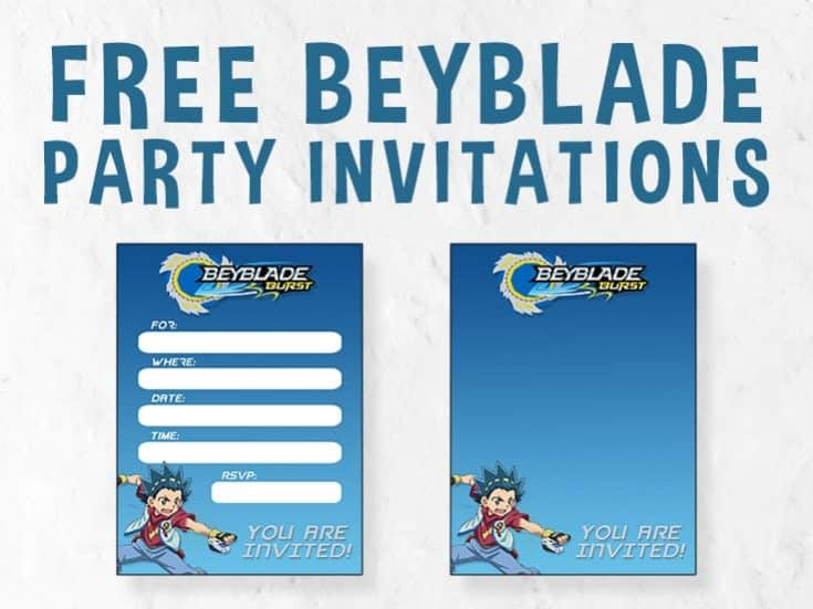 Beyblade Birthday Invitations