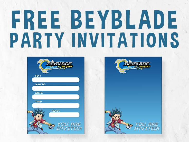Beyblade Invitation Featured Image