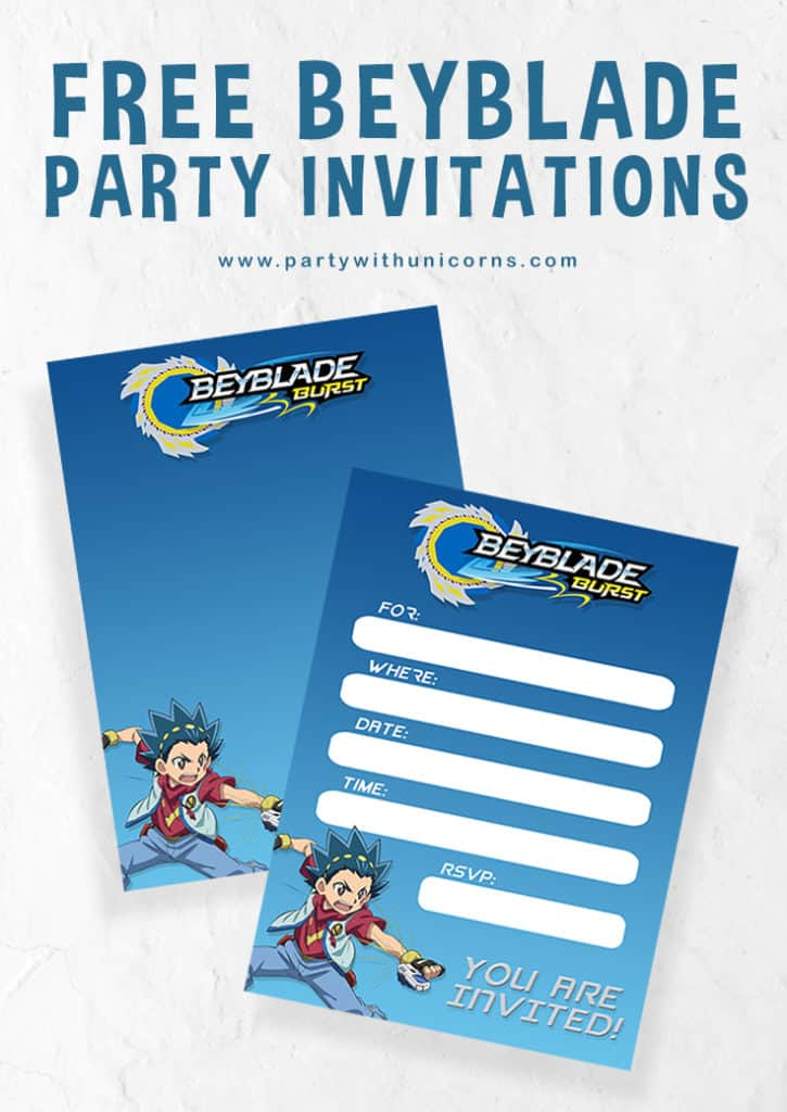 Beyblade Invitation Pinterest Tile