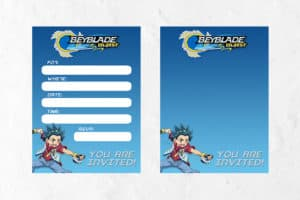 Beyblade Invitations