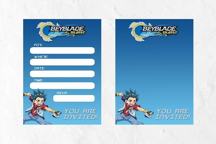 Beyblade Invitations