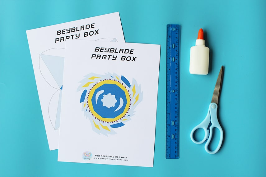 Beyblade Party Box Supplies