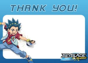 Beyblade Party Thank You Card