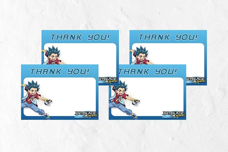 Beyblade Thank You Card