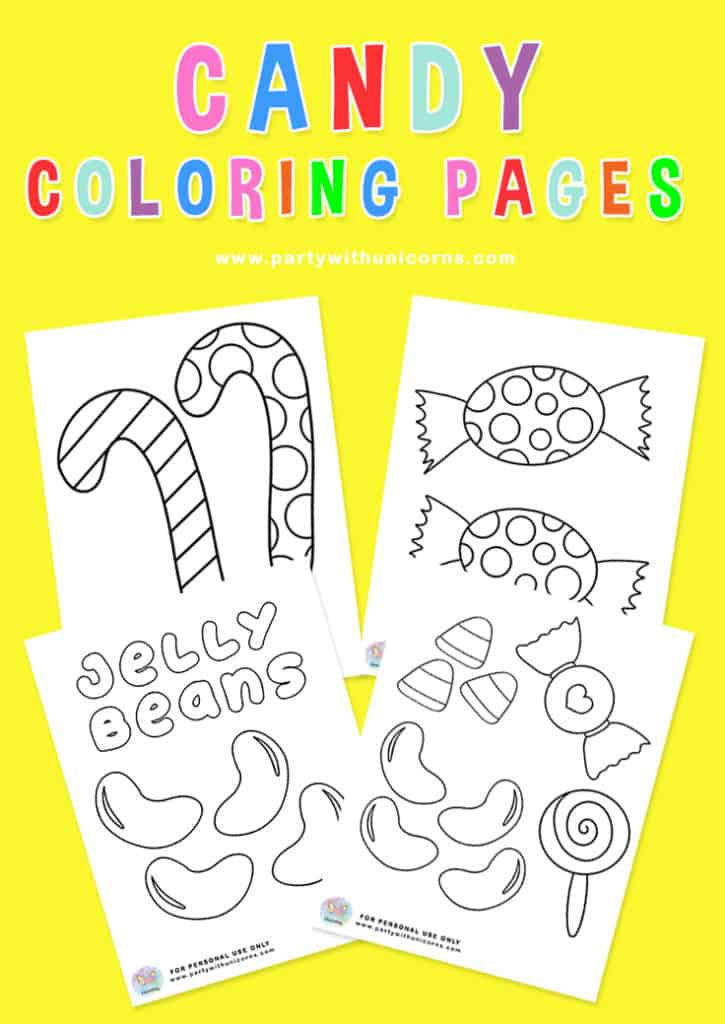 Candy Coloring Pages Pinterest Tile
