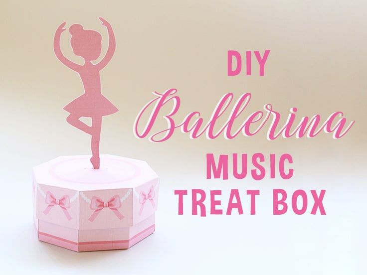 DIY Ballerina Music Treat Box Featured Image