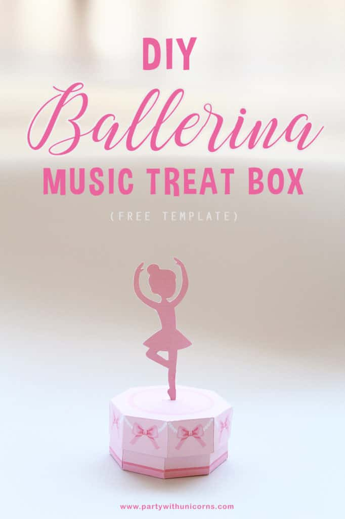 DIY Ballerina Music Treat Box Pinterest Tile