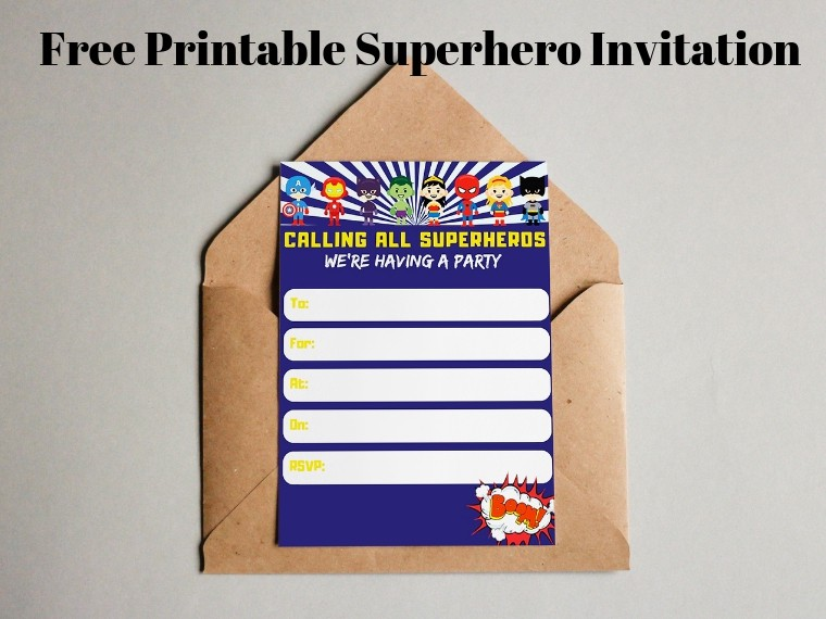 picture relating to Free Printable Super Hero Invitations named No cost Printable Superhero Invites