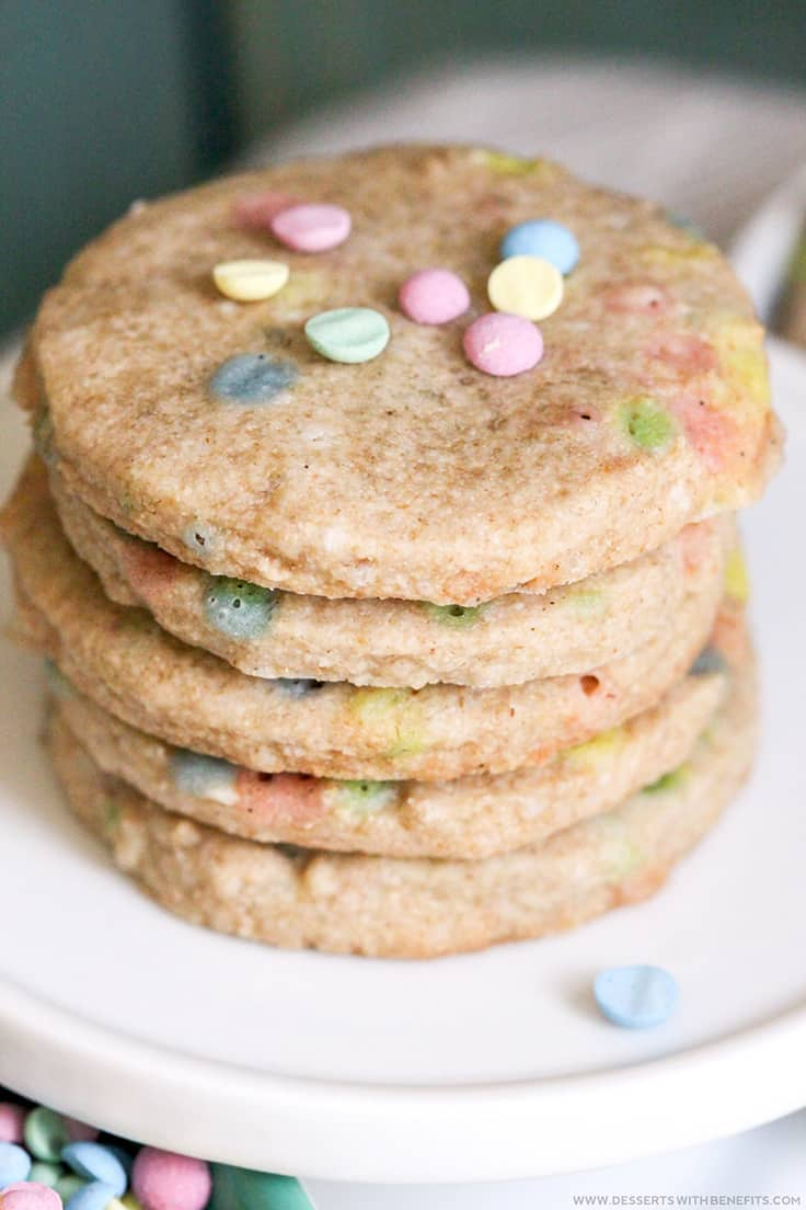 Healthy Easter Funfetti Shortbread Cookies