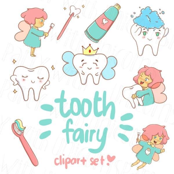 Tooth Fairy Clip Art Set
