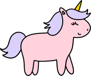 Unicorn Clip Art - Pink Unicorn