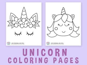 Cute Unicorn Coloring Sheets