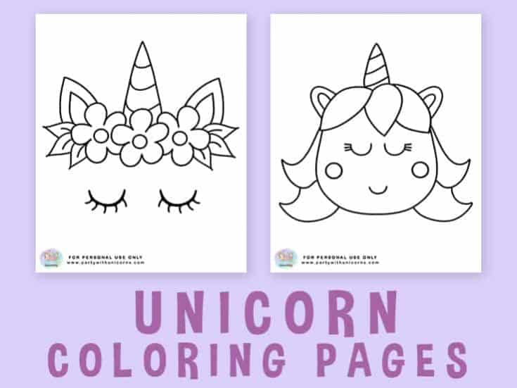 Unicorn Coloring Pages - Free Download