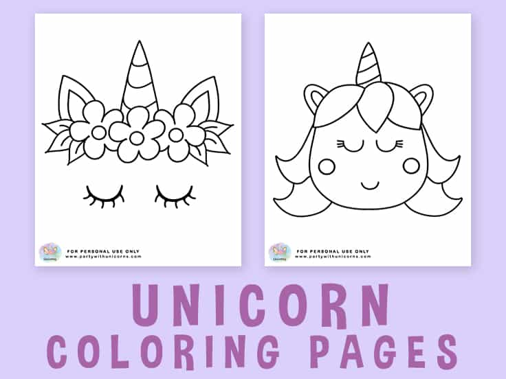 Unicorn Coloring Pages Featured Image