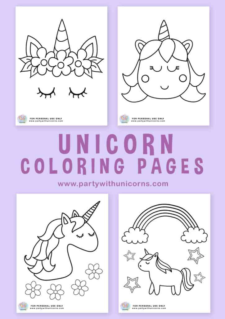 Unicorn Coloring Pages Pinterest Tile