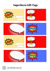 Superhero Clipart Gift Tage