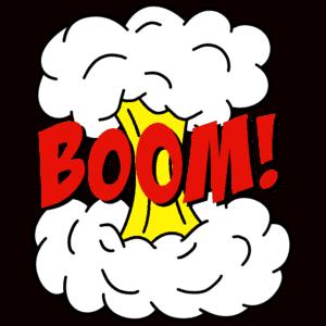 superhero action word clip art - boom