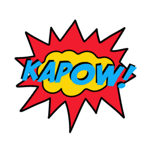 superhero action word clip art - kapow