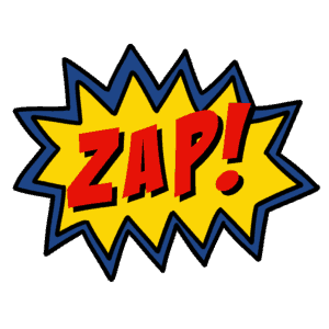 superhero action word clip art - zap