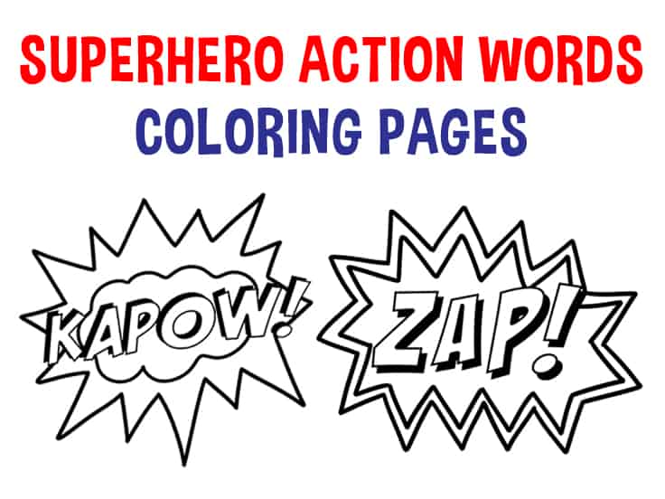 - Superhero Coloring Pages - Superhero Actions