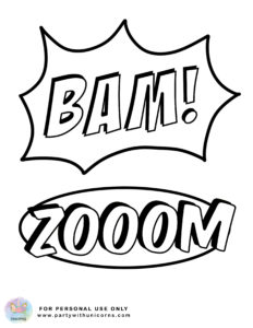 Superhero Coloring Pages Superhero Actions