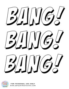 superhero action words coloring sheet 3