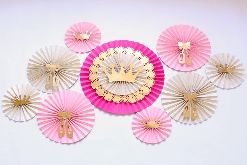 Ballerina Paper Rosettes