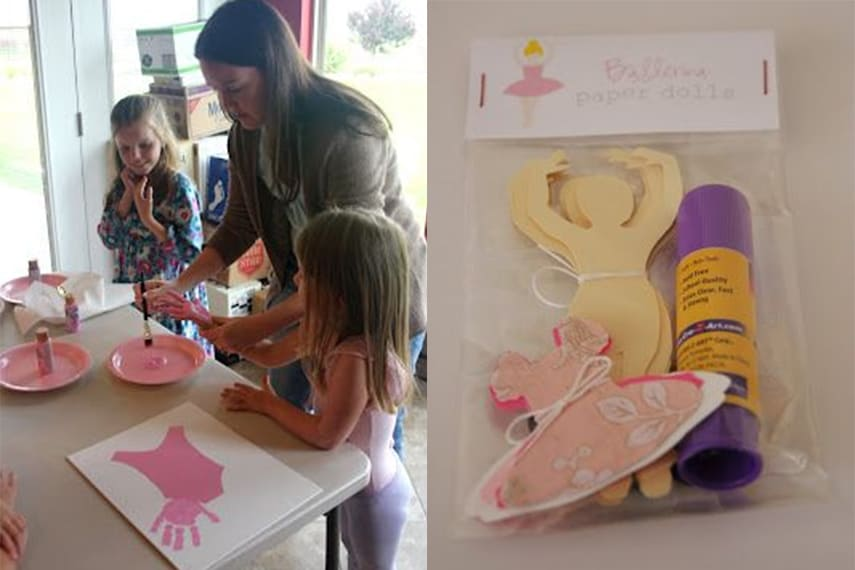 Ballerina Party Craft Activity