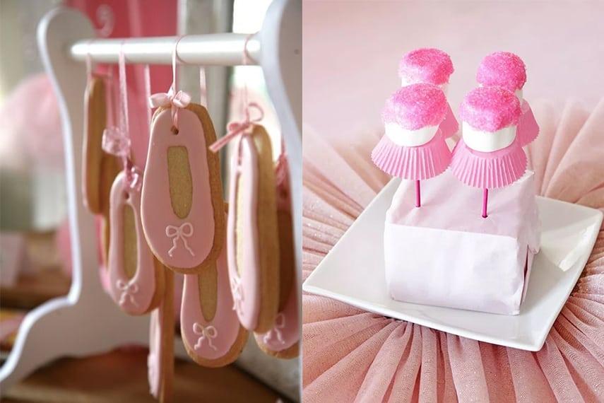 Ballerina Party Dessert Ideas - Cookies and Marshmallow Pop