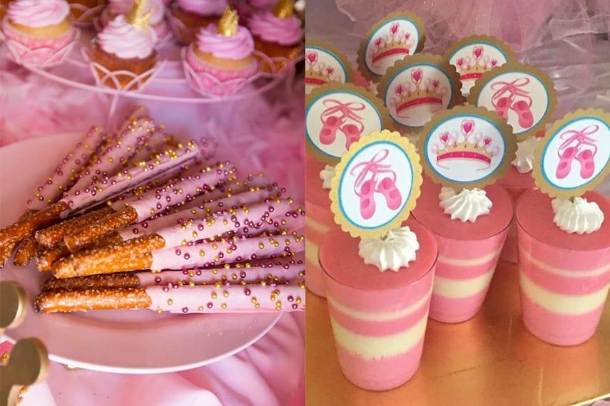 Ballerina Party Dessert Ideas - Pretzels & Panna Cotta