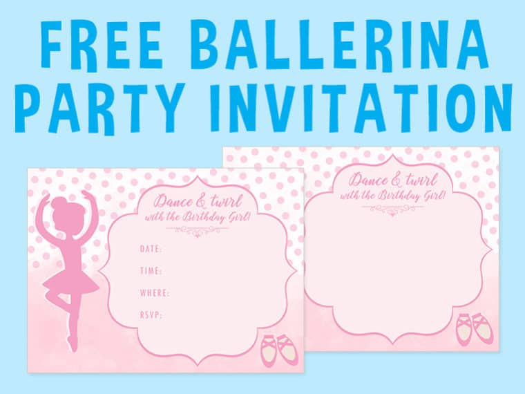 Ballerina Party Invitation Featured Image