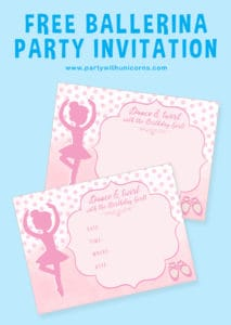 Ballerina Party Invitation Pinterest Tile