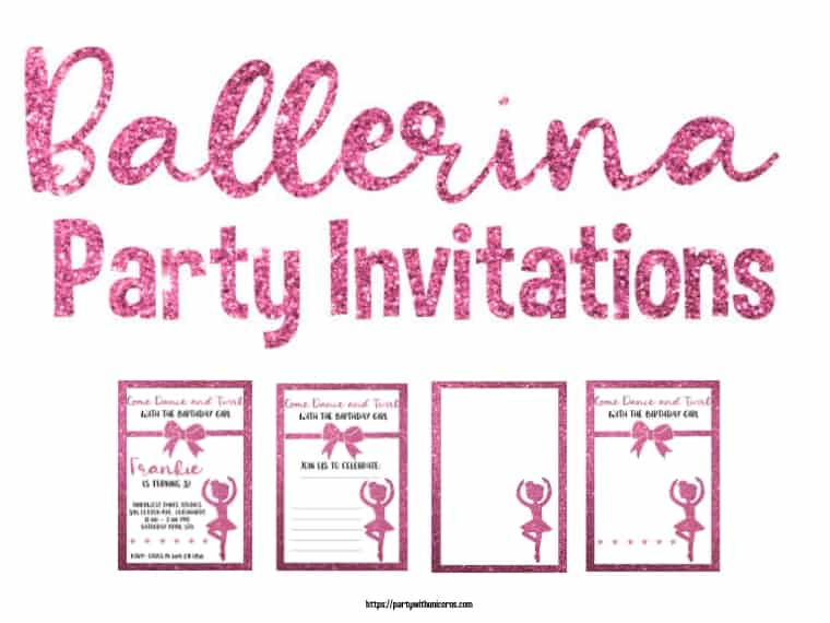 Ballerina Party Invite