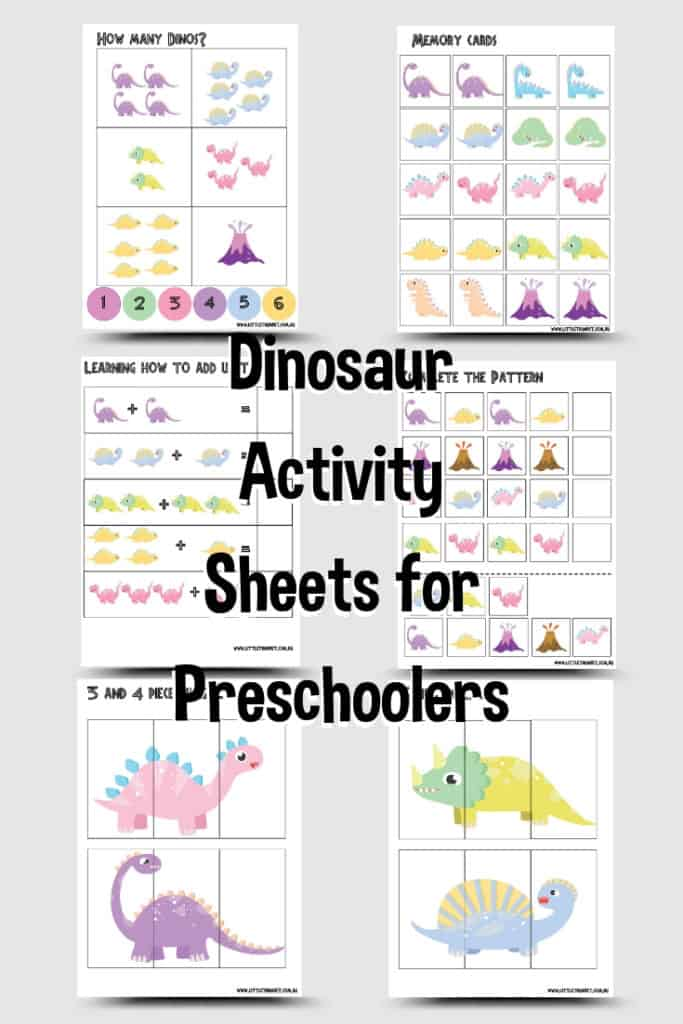 Dinosaur Preschooler Activities