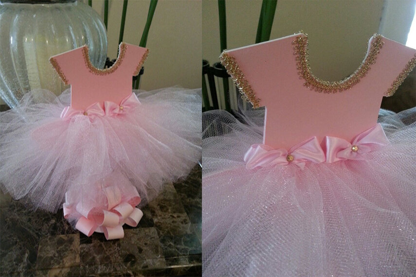 Double Sided Pink TuTu Dress Centerpiece