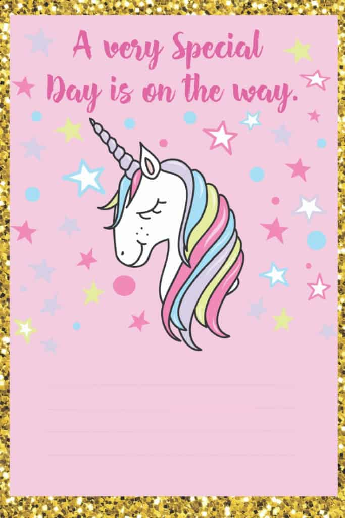 image relating to Free Printable Unicorn named Unicorn Birthday Invites - Totally free Printable * Occasion with