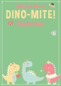 Girl Dino Invite