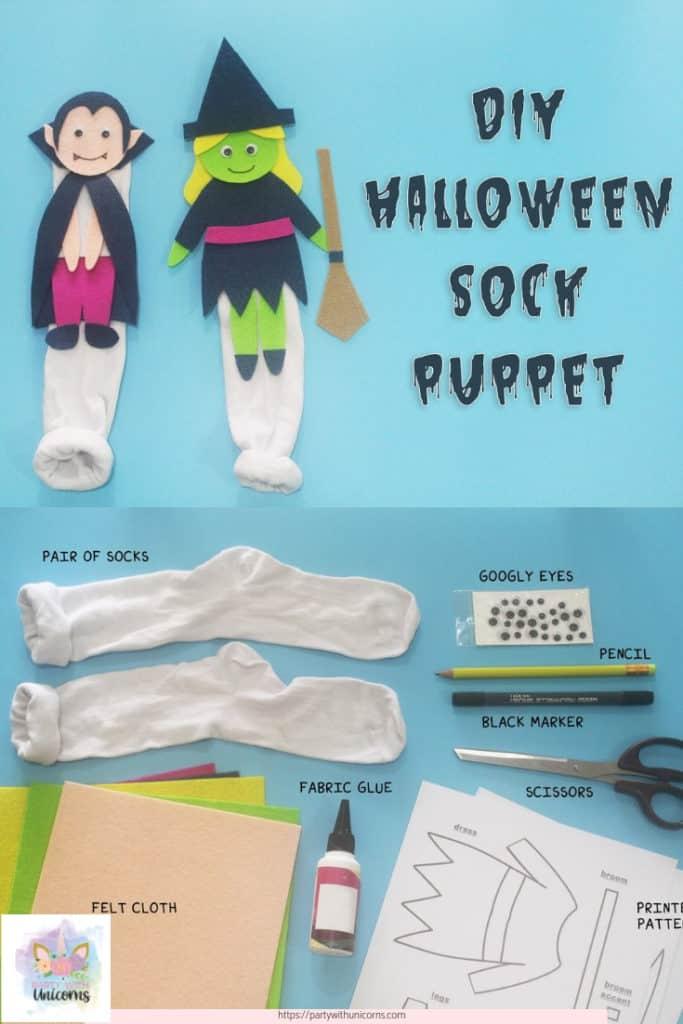 Halloween Sock Puppet