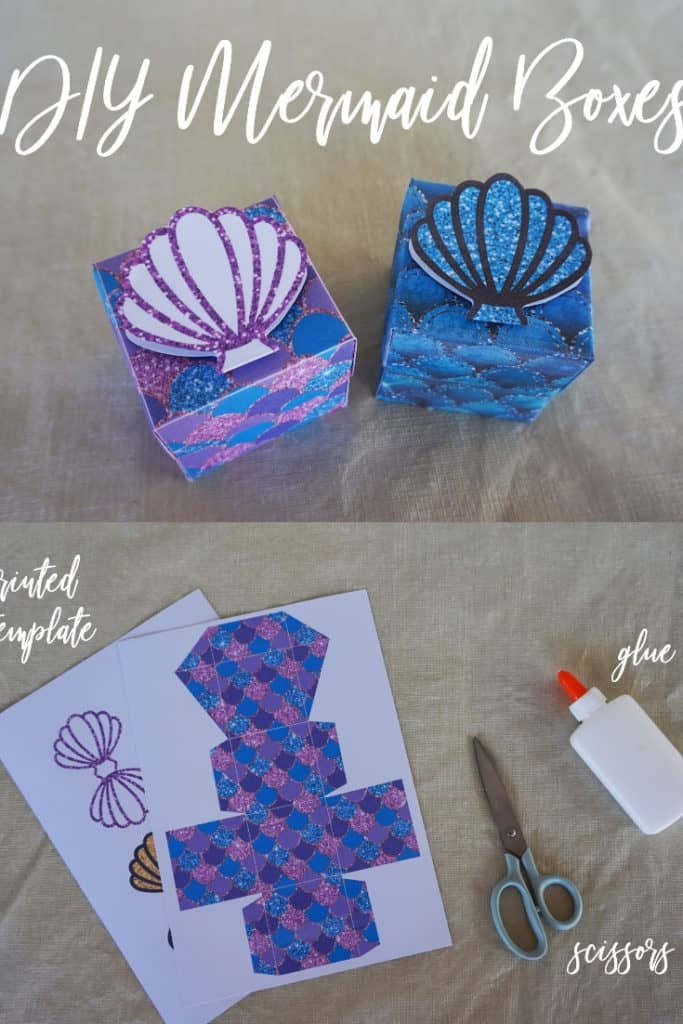 Mermaid Favor Boxes