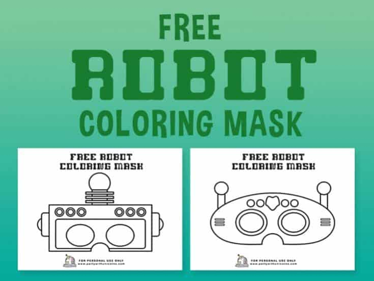 Robot Coloring Pages –  Coloring Masks