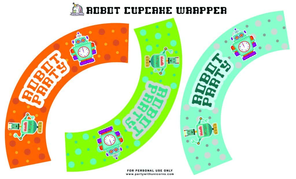 Robot Cupcake Wrapper