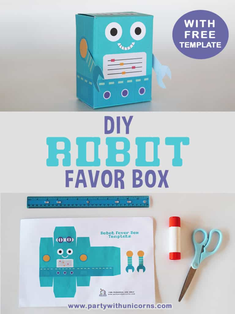 Robot Favor Box