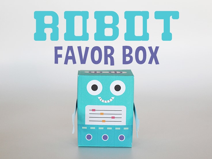 Robot Favor Box Featured Image