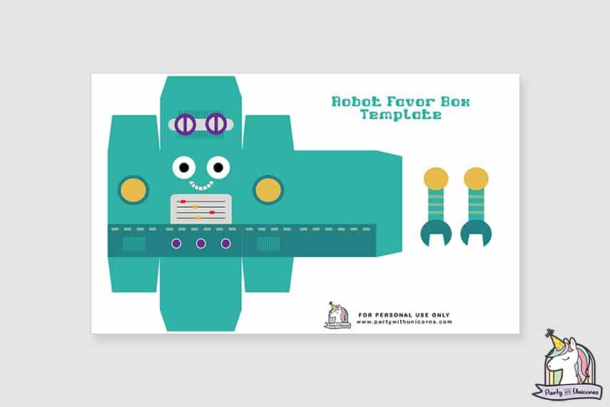 Robot Favor Box Step 1
