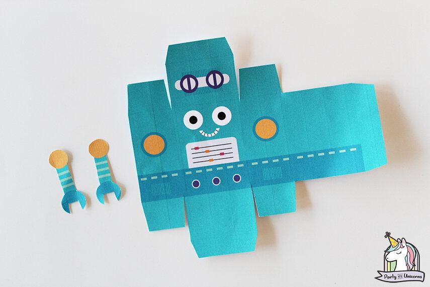 Robot Favor Box Step 2