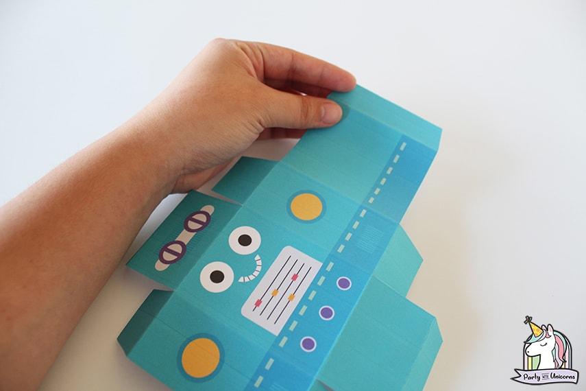 Robot Favor Box Step 3