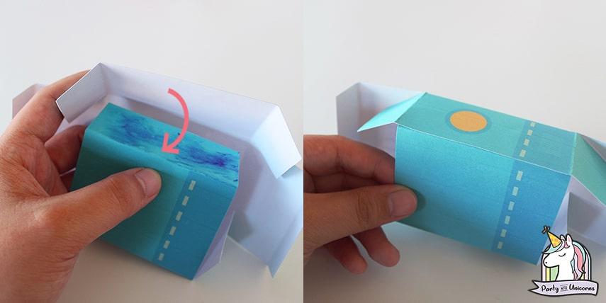 Robot Favor Box Step 4
