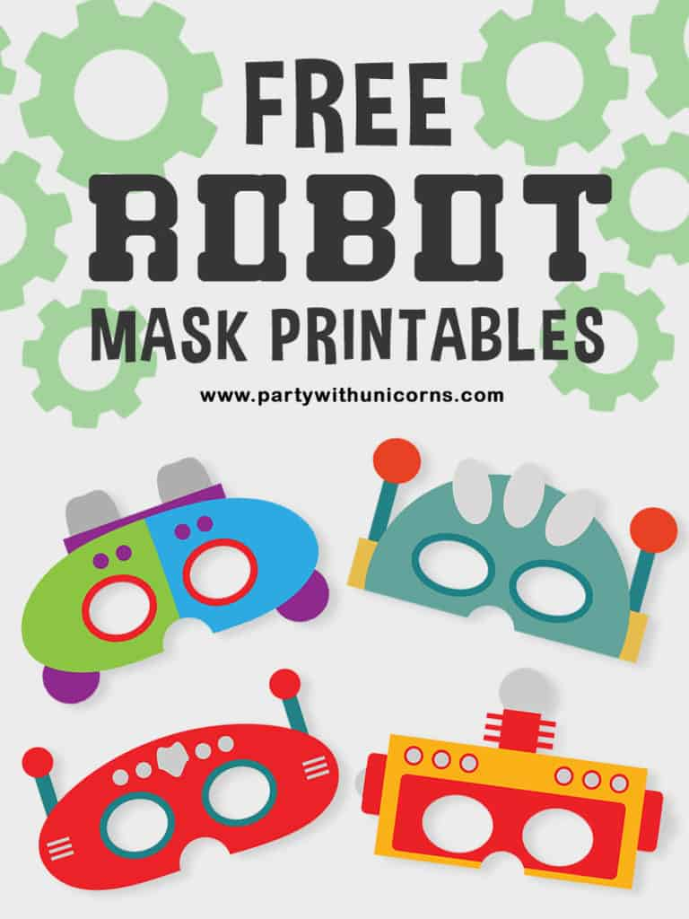 picture regarding Printable Robot identify Cost-free Robotic Mask Printables Readily available For Down load