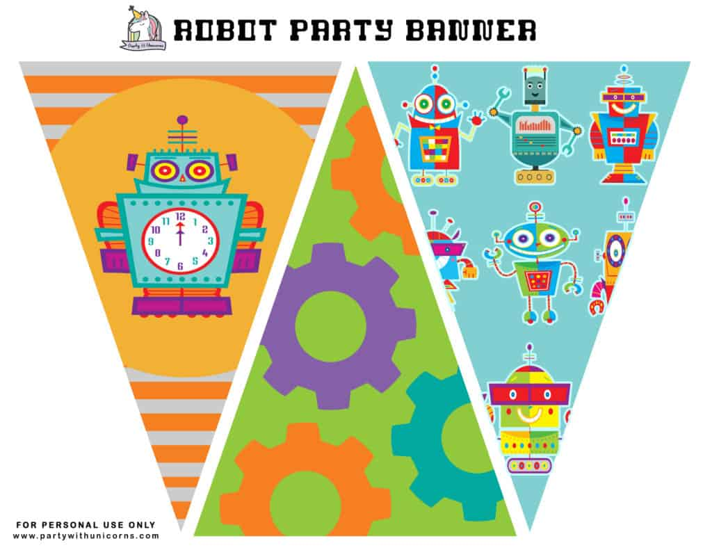 Robot Party Banner