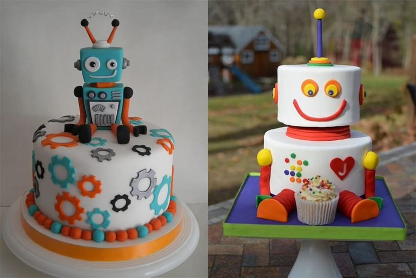 Robot Party Cakes
